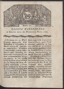 Gazeta Warszawska. R. 1779 Nr 75