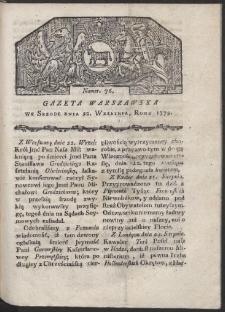 Gazeta Warszawska. R. 1779 Nr 76