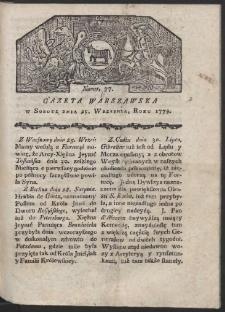 Gazeta Warszawska. R. 1779 Nr 77