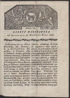 Gazeta Warszawska. R. 1779 Nr 78