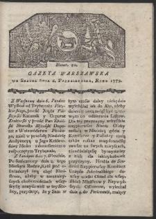 Gazeta Warszawska. R. 1779 Nr 80