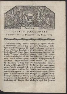 Gazeta Warszawska. R. 1779 Nr 81