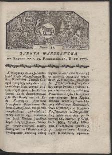 Gazeta Warszawska. R. 1779 Nr 82