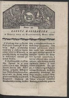 Gazeta Warszawska. R. 1779 Nr 83