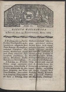 Gazeta Warszawska. R. 1779 Nr 85
