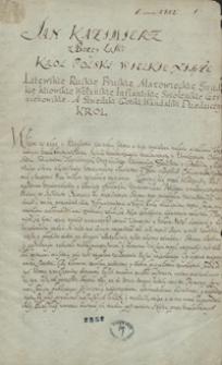 [Uniwersał Jana Kazimierza z maja 1666]