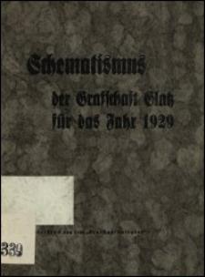 Schematismus der Grafschaft Glatz für das Jahr 1929