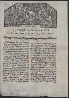 Gazeta Warszawska. R. 1779 Nr 88