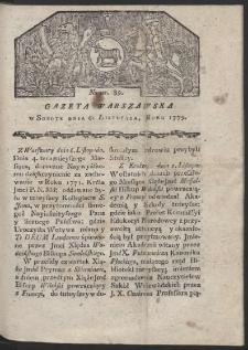 Gazeta Warszawska. R. 1779 Nr 89