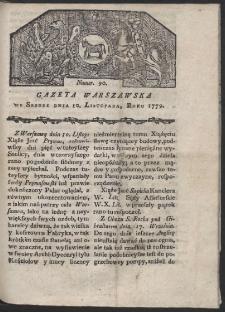 Gazeta Warszawska. R. 1779 Nr 90
