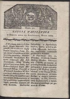 Gazeta Warszawska. R. 1779 Nr 91