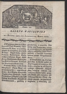 Gazeta Warszawska. R. 1779 Nr 92