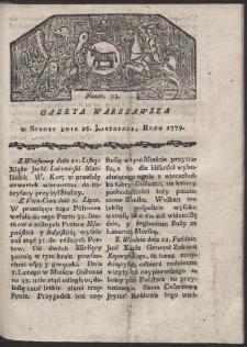 Gazeta Warszawska. R. 1779 Nr 93