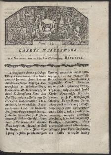 Gazeta Warszawska. R. 1779 Nr 94