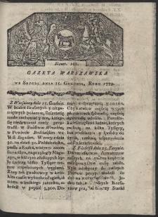 Gazeta Warszawska. R. 1779 Nr 100