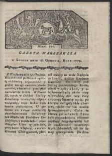 Gazeta Warszawska. R. 1779 Nr 101