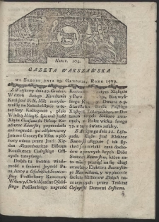Gazeta Warszawska. R. 1779 Nr 104