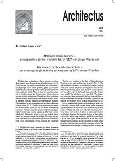 Maswerk chóru katedry – awangardowa forma w architekturze XIII-wiecznego Wrocławia