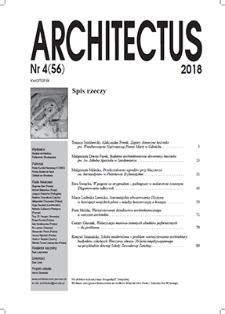 Spis rzeczy [Architectus : Pismo Wydziału Architektury Politechniki Wrocławskiej, 2018, nr 4 (56)]