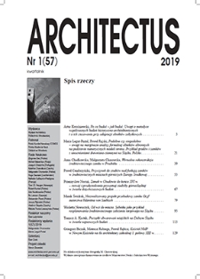 Spis rzeczy [Architectus : Pismo Wydziału Architektury Politechniki Wrocławskiej, 2019, nr 1 (57)]