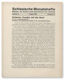 Schlesische Monatshefte : Blätter für Kultur und Schrifttum der Heimat. Jahrgang VII, August 1930, Nummer 8