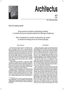 Przyczynek do studiów nad funkcją zamkóww średniowiecznych miastach górniczych Europy Środkowej