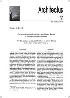 Początki obwarowań miejskich na Dolnym Śląsku w świetle najnowszych badań