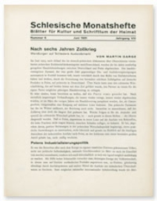 Schlesische Monatshefte : Blätter für Kultur und Schrifttum der Heimat. Jahrgang VIII, Juni 1931, Nummer 6