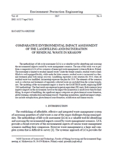 Comparative environmental impact assessment of the landfilling and incineration of residual waste in Krakow