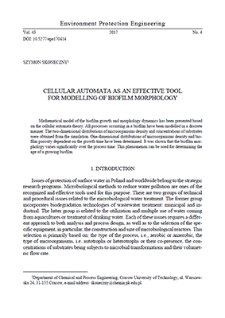 Cellular automata as an effective tool for modelling of biofilm morphology