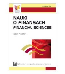 Spis treści [Nauki o Finansach = Financial Sciences, 2011, Nr 4 (9)]