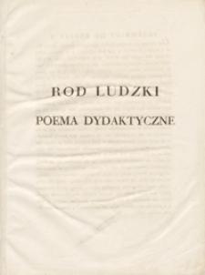 Rod ludzki : poema dydaktyczne