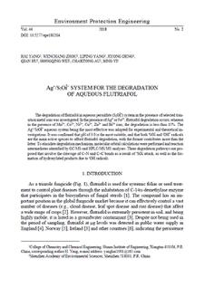 Ag+/S2O8 2– system for the degradation of aqueous flutriafol