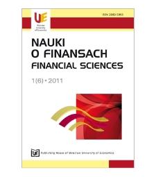 Table of contents [Nauki o Finansach = Financial Sciences, 2011, Nr 1(6)]