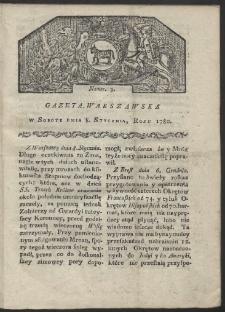 Gazeta Warszawska. R. 1780 Nr 3