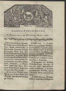 Gazeta Warszawska. R. 1780 Nr 7