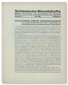 Schlesische Monatshefte : Blätter für Kultur und Schrifttum der Heimat. Jahrgang IX, Mai 1932, Nummer 5