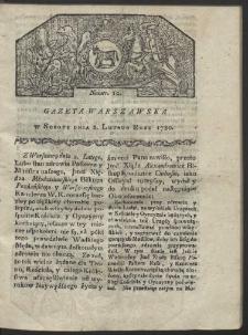 Gazeta Warszawska. R. 1780 Nr 10