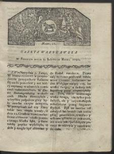 Gazeta Warszawska. R. 1780 Nr 11