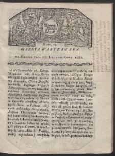 Gazeta Warszawska. R. 1780 Nr 14