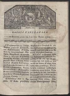 Gazeta Warszawska. R. 1780 Nr 15