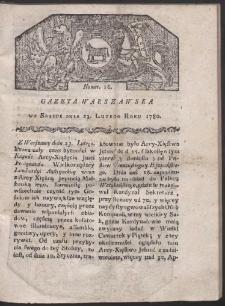 Gazeta Warszawska. R. 1780 Nr 16