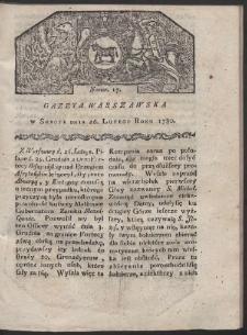 Gazeta Warszawska. R. 1780 Nr 17