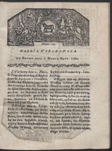 Gazeta Warszawska. R. 1780 Nr 18