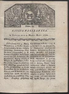 Gazeta Warszawska. R. 1780 Nr 19