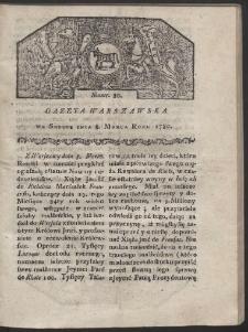 Gazeta Warszawska. R. 1780 Nr 20