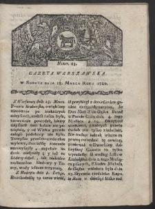 Gazeta Warszawska. R. 1780 Nr 23