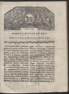 Gazeta Warszawska. R. 1780 Nr 27