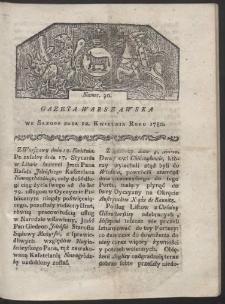 Gazeta Warszawska. R. 1780 Nr 30