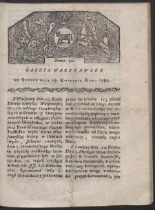 Gazeta Warszawska. R. 1780 Nr 32